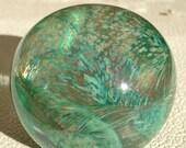 Rainforest - art glass paperweight