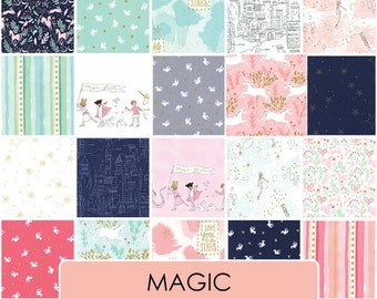 Magic by Sarah Jane -  Fat Quarter Bundle - FQ cotton quilt fabric