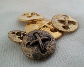 Stitch Vintage metal button - 15mm, 18mm, 22mm or 27mm available - 1 unit or more