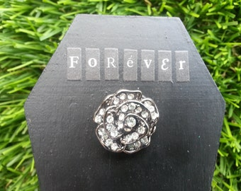 One Of A Kind Unique Engagement Ring Valentines Day Coffin Casket Ring Box
