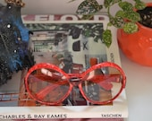 1960s Oversized Retro Sunglasses, Made in France, Mod Bug Eye Sunnies