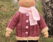 """Knitted set of clothes for 15""""-16"""" Waldorf type doll"""