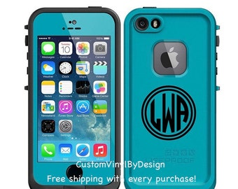Lifeproof Case Monogram Decal, Lifeproof Decal, Lifeproof Case, Monogram for Lifeproof, 2 inch decal, Phone Case Decal, Vinyl MonogramPerson
