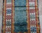 3 by 5 / Vintage Oushak Rug / Vintage Rug / Turkish Antique Rug / Caucasus Rug / Rustic / Turquoise-Indigo / Antique Rug - 52 in x 30 in