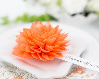 Tangerine Orange Wedding Place Cards, Orange Place Cards, Bridal Shower Decor, Wedding Escort Cards