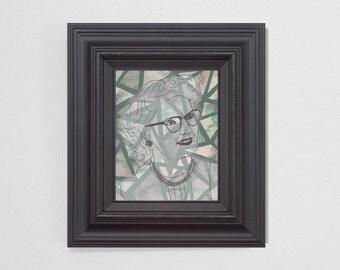 "8x10"" Original Fine Art Painting. ""Ghosts"" Series (2/6) : ""Cordelia"" Mixed Media."