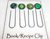Daily Planner Book Clips, Fractal Art Glass Book Clip, Book Clips, Journal Bookmark, Daily Planner Accessories, Book Club, BKC320