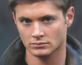 A4 'Fan Art' Print of Dean Winchester Character from Supernatural American TV Series - Played by Actor Jensen Ackles