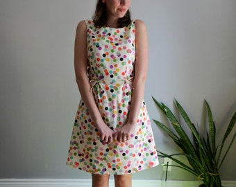 Rainbow Confetti Print Dress / XS S M L XL / Summer - Something to Celebrate Dress