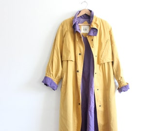 Minimal Yellow 80s Trench Coat