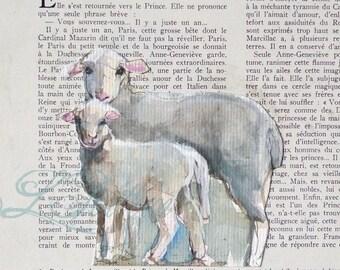 SHEEP - Original watercolour painting - wall art farm animal