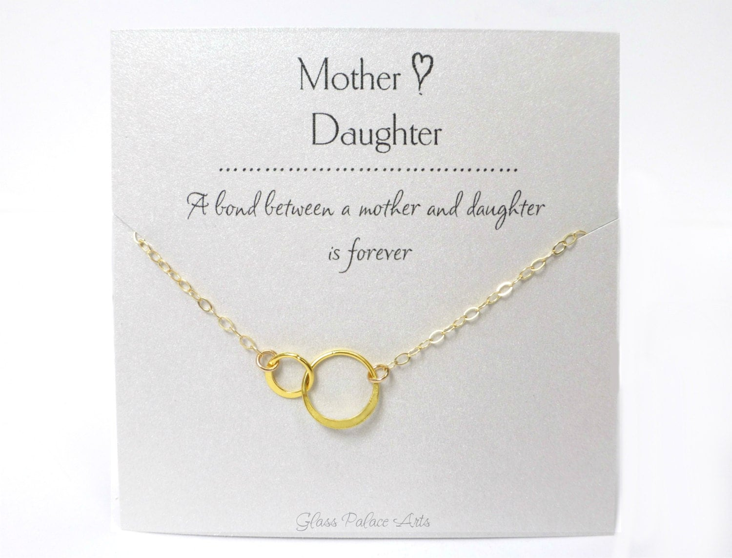 Mother Daughter Necklace Gift For Mom Personalized Mother