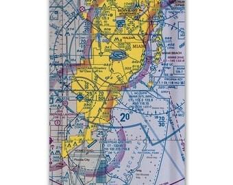 "Miami Aviation Snack Tray 6""x13"""
