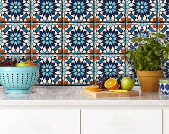 Moroccan Tile Wall Floor Stair Riser Vinyl Decal For Kitchen Bathroom