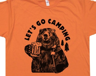 T shirt with sayings etsy lets go camping t shirts funny beer t shirts the smoky smokey ozark mountains grizzly bear publicscrutiny Image collections