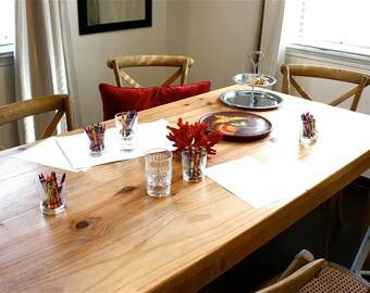 Dining Table, Parsons Design, Reclaimed Wood Table // 30