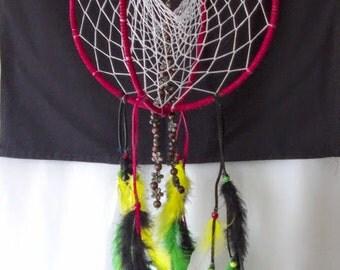 9 pink dreamcatcher black sinew spider web 3 10 red 3 d dream catcher white sinew web green yellow mightylinksfo