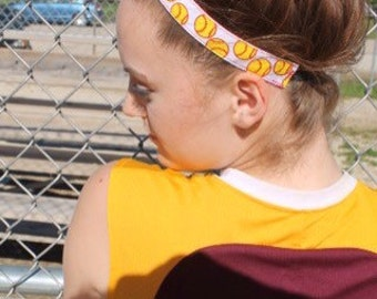 Softball Headband Sports Gift for Her, Choice of Color & Size, Womens Headbands Softball Gifts, Team Headbands for Girls