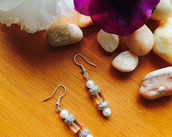 Abstract dangle drop earrings