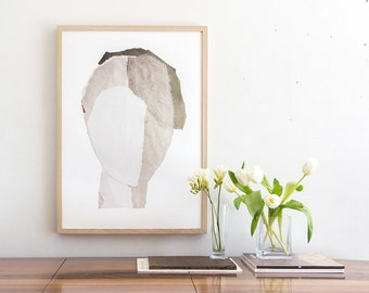 Large Fine Art, Contemporary Archival Giclee Print, Winter White Abstract Minimalist Artwork, New Home Gift