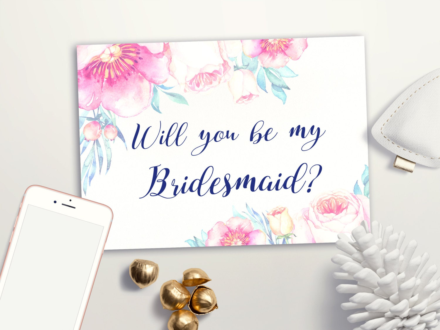 It is a graphic of Gorgeous Will You Be My Bridesmaid Cards Printable