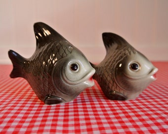 Vintage Goebel Fish Salt and Pepper set - West Germany - W. Germay