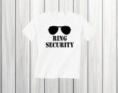 Ring Security Shirt Wedding Rehearsal Shirt Ring Bearer Gift Ring Bearer Shirt Boy Wedding Rings Shirt Wedding Shirt Ring Security Outfit