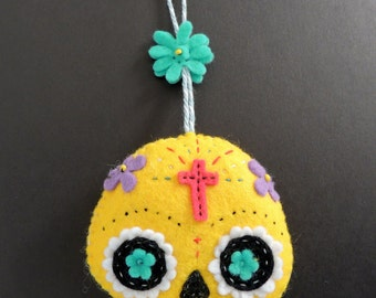 Felt Day of the Dead Halloween Hanger