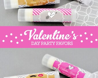 Valentines Day Party Favors - Valentines Day Wedding Lip Balm Favors - Valentines Day Baby Shower Favors ( EB3031T) - 16| pcs