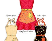 Retro Apron Pattern with Two Skirts- INSTANT DOWNLOAD