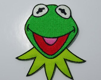 Kermit the Frog retro Muppet embroidered iron on patch