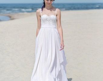 Eirene - bridal chiffon skirt / wedding chiffon skirt / bridal separates / wedding separates / grecian style bridal skirt