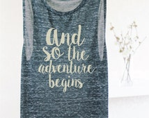 WOMEN'S GRAPHIC TANK - Tank Tops For Women - Travel Women's Travel Tank - Tank Tops With Sayings - Shirts With Quotes - Women's Muscle Tank
