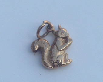 9ct Gold Red Squirrel Charm