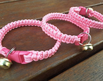 Cat Collar - handmade paracord kitten collar, kitty collars