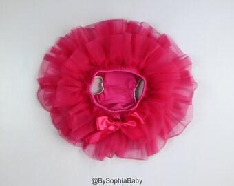 Baby Tutu Skirt, Hot Pink Tutu Skirt, Hot Pink Baby Bloomers, Pink Diaper Cover, Baby Diaper Cover, Pink Baby Tutu Skirt , 2121