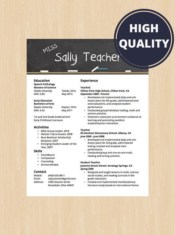 Elementary School Teacher Resume Cover Letter