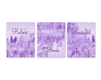 Bathroom Wall Decor Art Digital Download Prints Printable