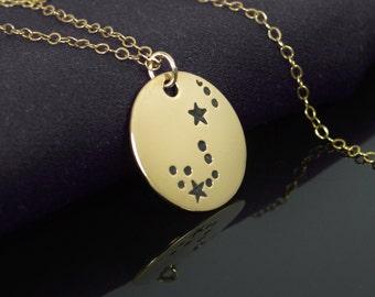 Scorpio Pendant, 14k Gold Filled, Scorpio Necklace, Zodiac Necklace, Zodiac Jewelry, Horoscope Necklace, Gold Necklace, Scorpio Jewelry