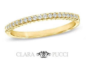 0.8 CT Wedding Engagement Ring Band Classic 14k Yellow Gold Made and Designed in the USA Summer Gift