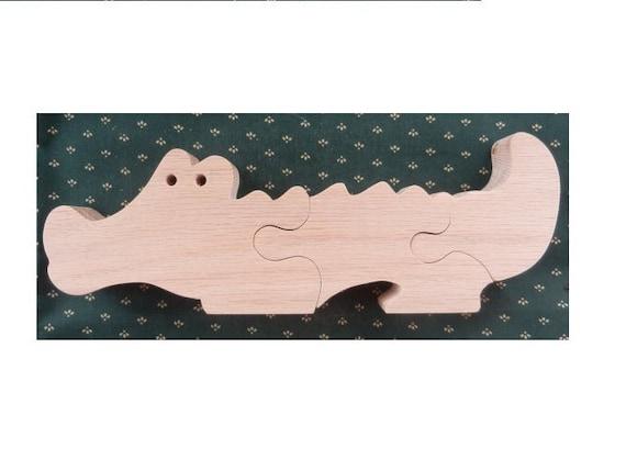 alligator puzzle children puzzle wood puzzle educational. Black Bedroom Furniture Sets. Home Design Ideas