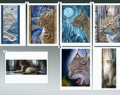 Wild Cat Card Collection - all from original artwork by D Y Hide