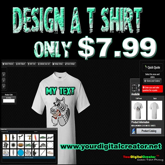 Custom T-shirt Printing FULL COLOR Logo by YourDigitalCreator