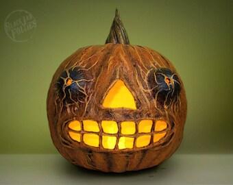 Halloween Jack-O'-Lantern Sculpture