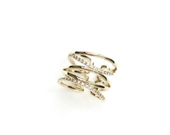 Dainty Gold Ring, Gift Ideas, Rings for women, Fashion rings, Unique rings, Adjustable Gold Ring, Gold Stacking Rings, Stackable Gold Rings