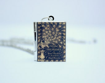 Pride and Prejudice Book Cover Locket Library Charm by Jane Austen Jewelry Jewellery Literary Gifts Necklace Bracelet Keychain Bookmark