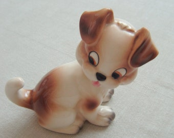 Foreign Porcelain Puppy Figurine