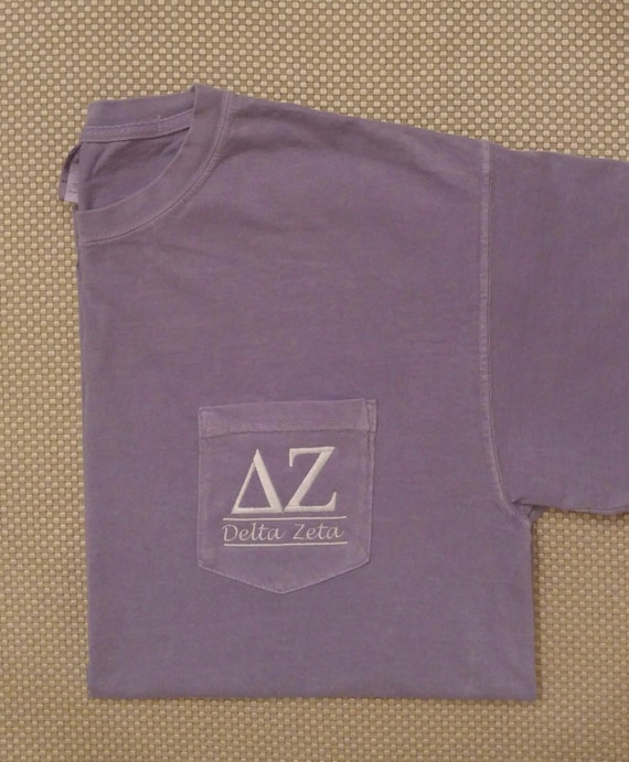 Sorority shirts delta zeta sorority t shirt by for Custom greek letter t shirts