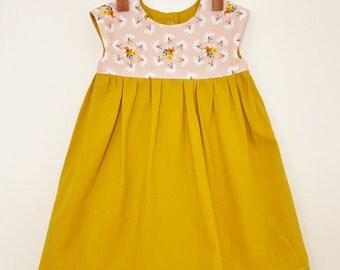 18-24 months Geranium Dress (Organic Cotton)