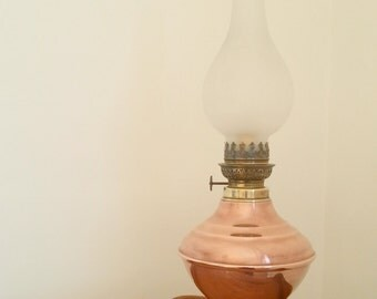 Copper Oil Lamp Etsy